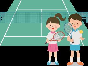 テニスを楽しむ男女